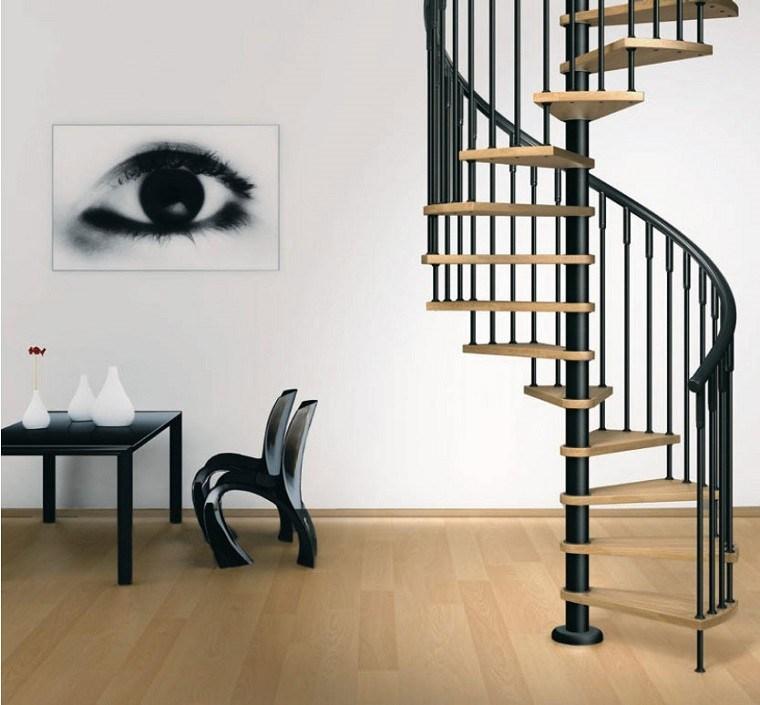 decorar escaleras cuadro ojo