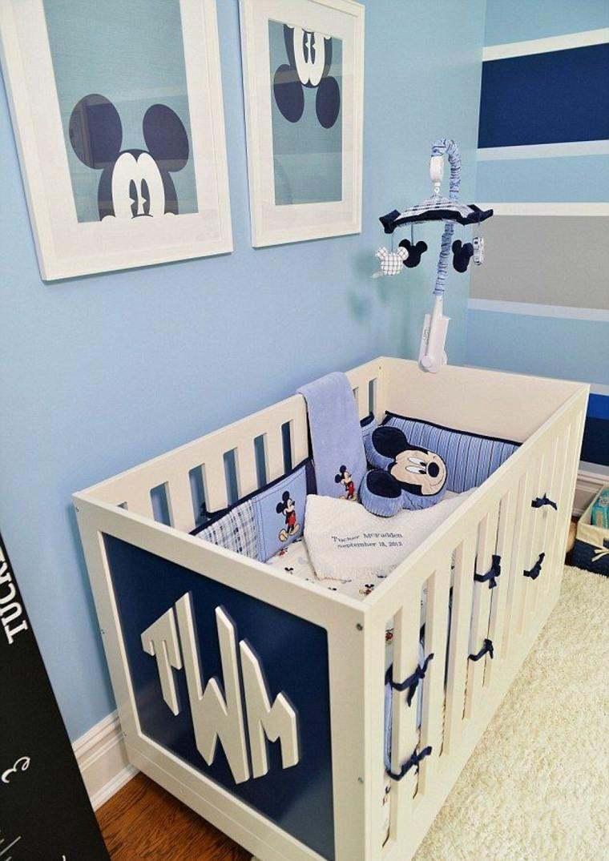Decoracion habitacion bebe cincuenta dise os geniales for Decoracion habitacion de bebe varon