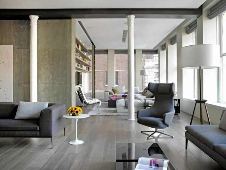 decoración loft amplio abierto lampara preciosa ideas