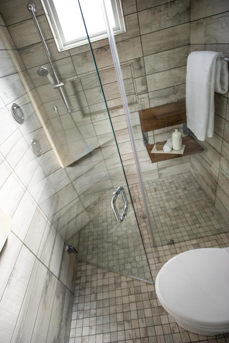decoracion madera toalla estetica baño