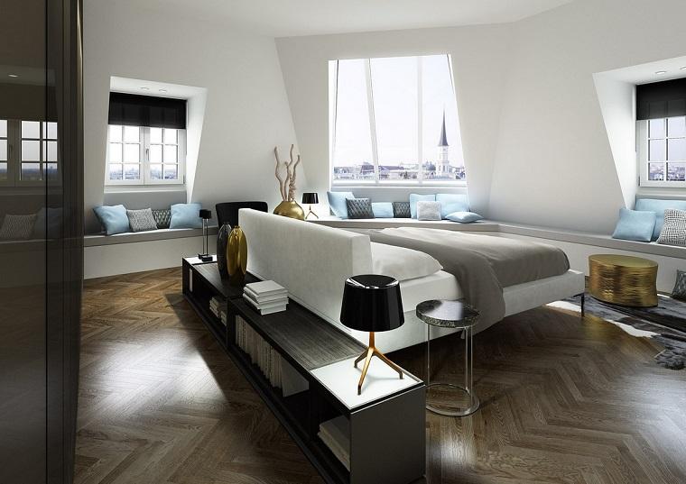 decoracion moderna dormitorio romantico blanca negra ideas
