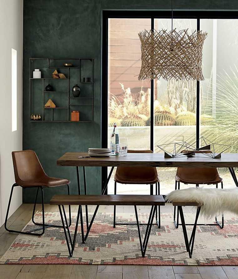 decoracion muebles comedor estilo boho madera ideas