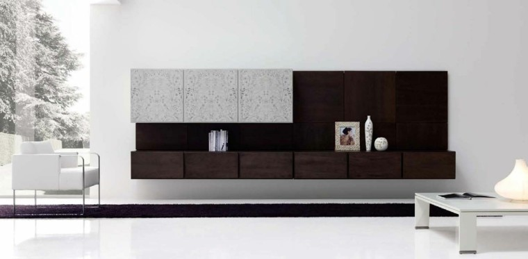 decoracion salon elegante madera mueble