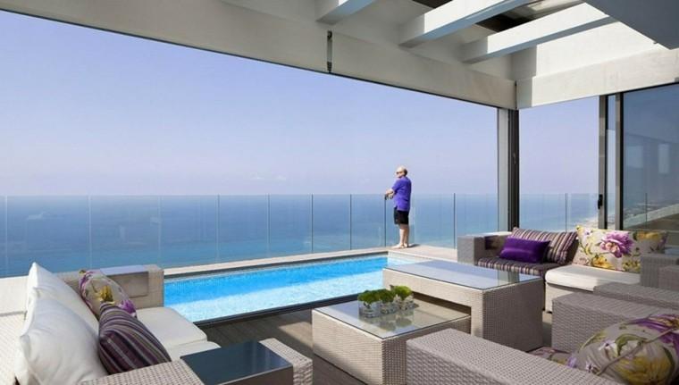decoracion terraza aticos piscina vistas