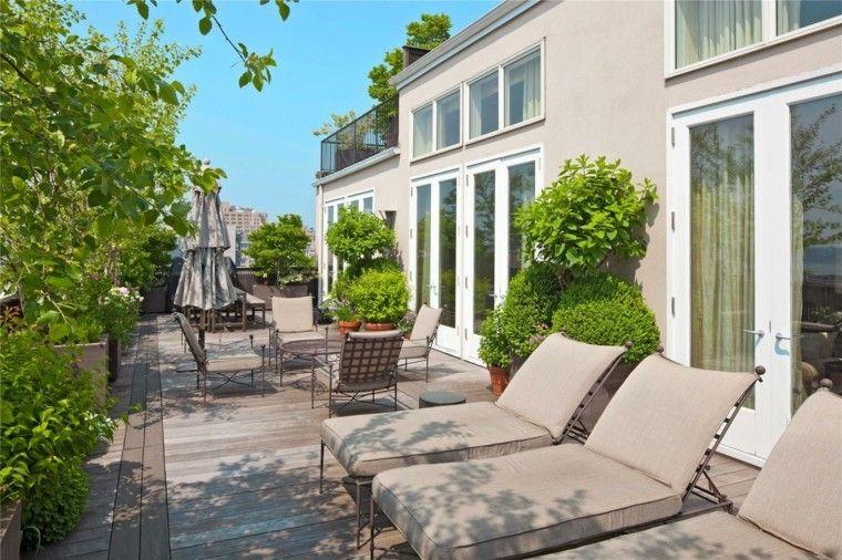 Decoracion terraza aticos dise os modernos de gran altura for Antas jardin