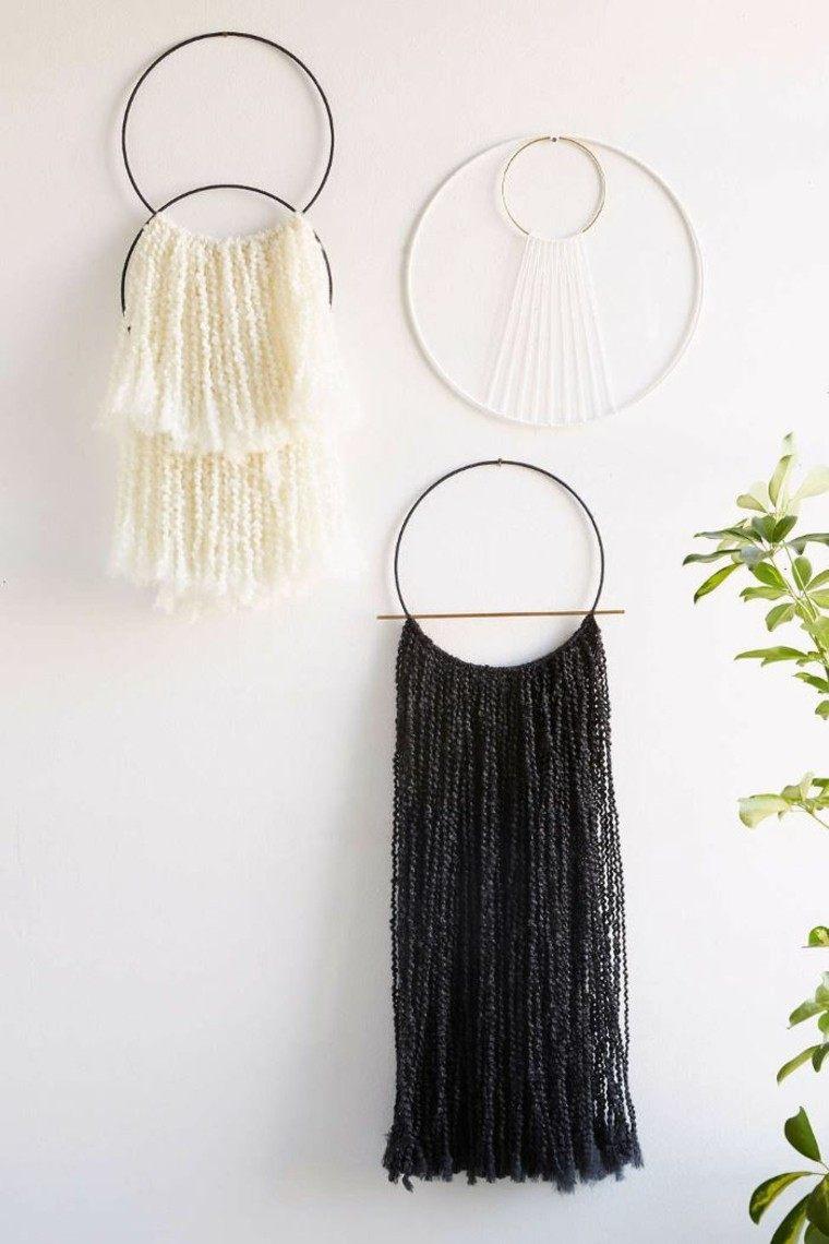 decoraciones estilo boho pared lana distintos colores ideas