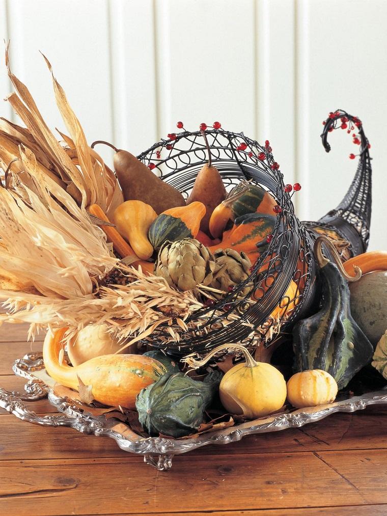 decoraciones otono clabazas pequenas maices ideas