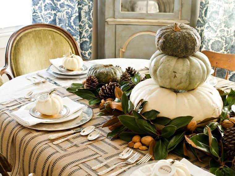 decoraciones otono mesa preciosa comidas ideas