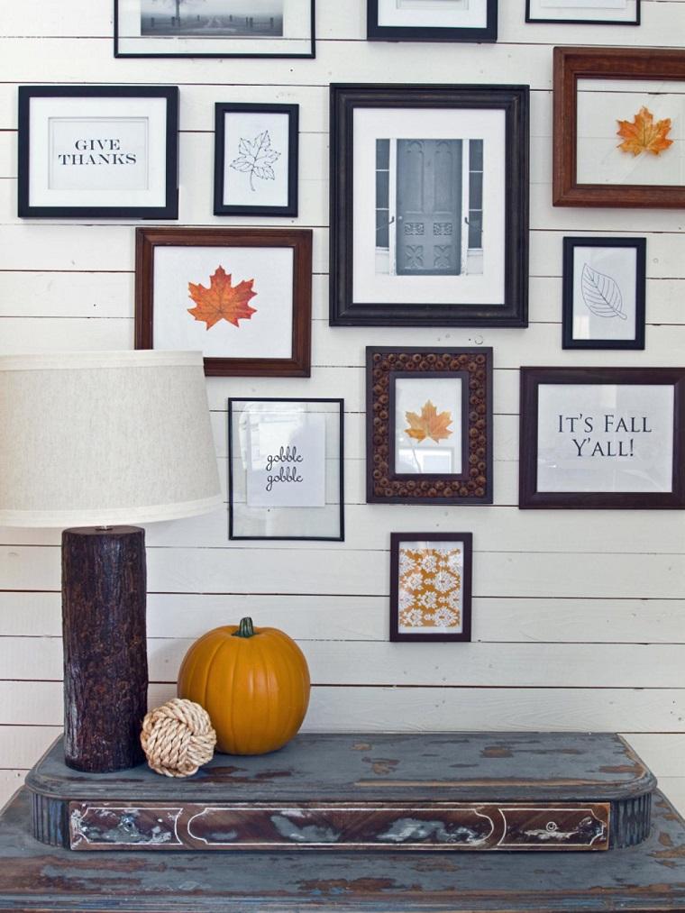 decoraciones otono pared casa imagenes calabaza ideas
