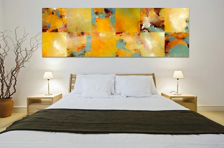 decoraciones otono ramas dormitorio cuadro ideas