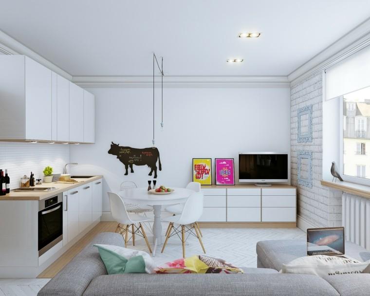 decoraciones pared espacio pequeno vaca pizarra ideas