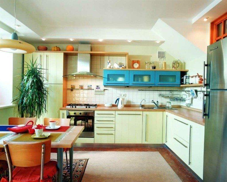 decorar cocina muebles colores