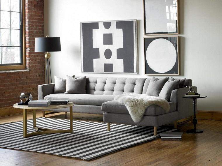 Decorar con cuadros 25 ideas para el hogar moderno - Cuadros para salon modernos ...