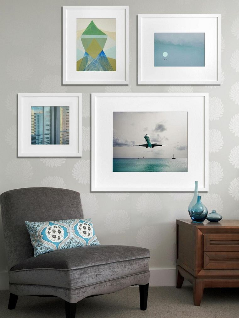 Photo Wall Collage Living Room Simple