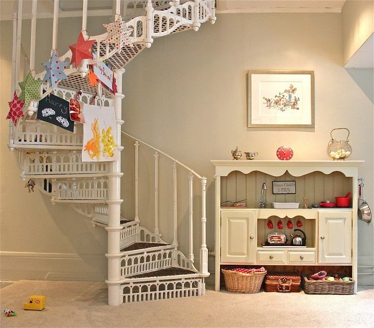 Decorar escaleras con estilo 50 ideas - Decoracion bajo escalera ...