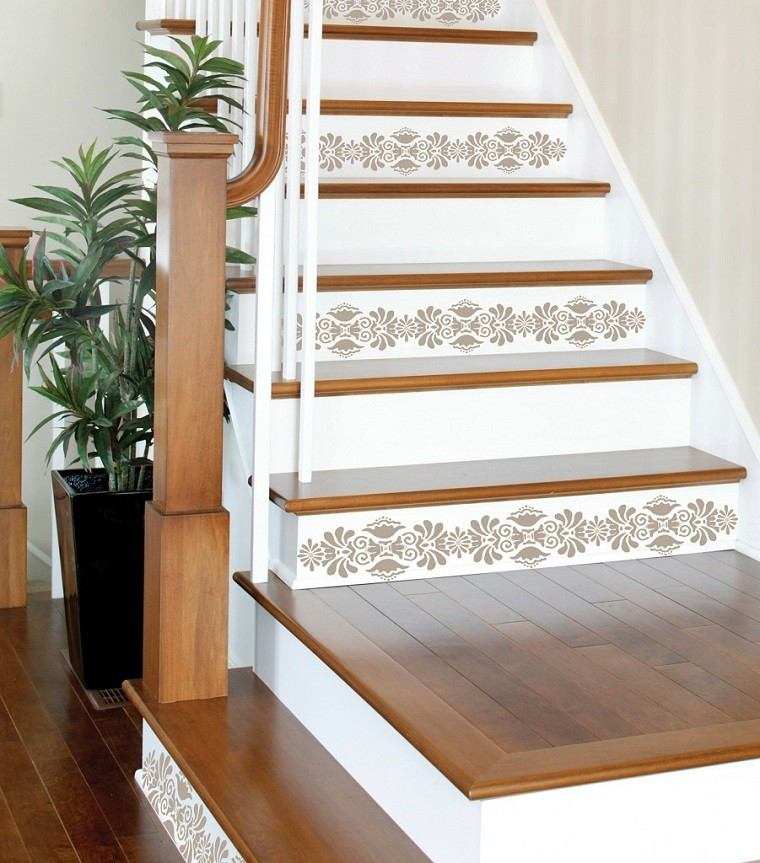 Decorar escaleras con estilo 50 ideas - Como decorar una escalera interior ...