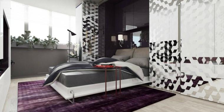 decorar espacios pequeños dormitorio pared cristal macetas ideas