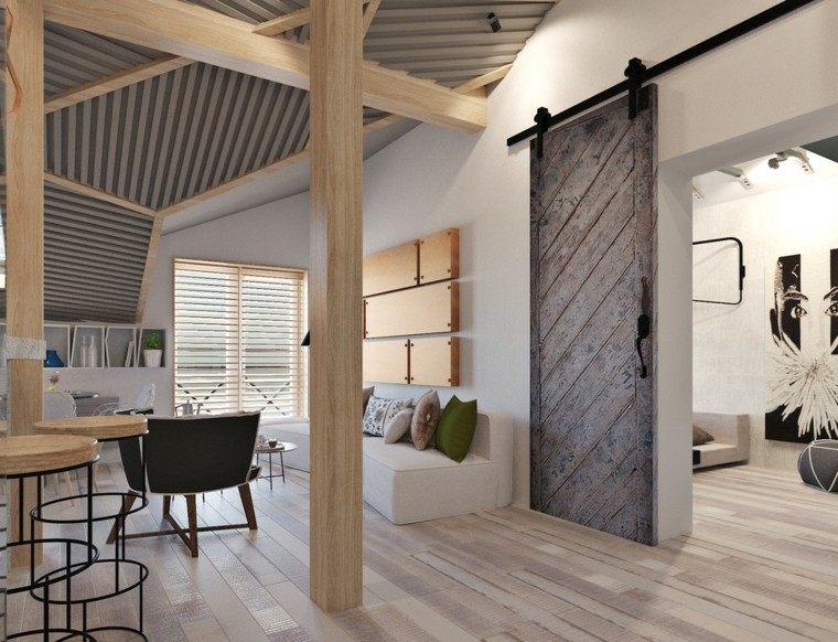 decorar espacios pequenos laminas madera pared ideas
