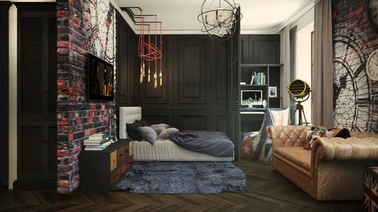 decorar espacios pequenos pared ladrillo ideas