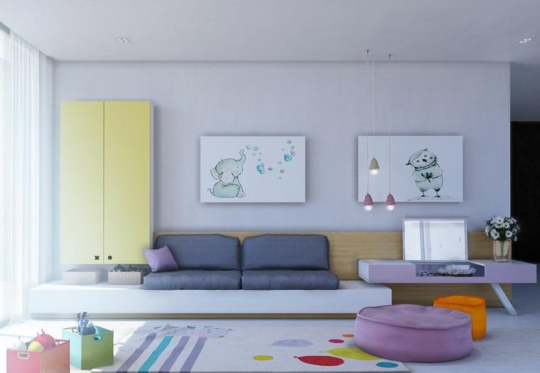 habitaciones infantiles nina colores vibrantes ideas