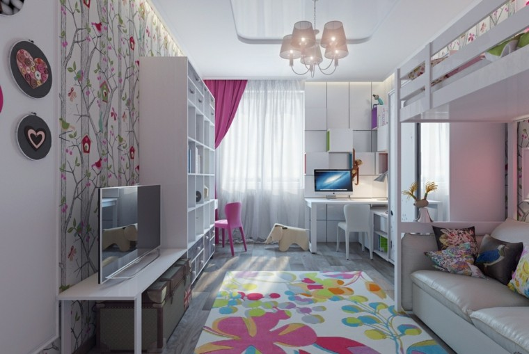 Habitaciones infantiles ni a moderna ideas para ella - Papel pared nina ...