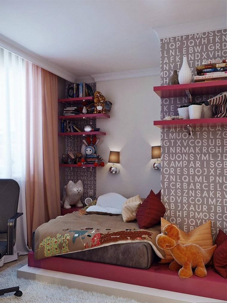 habitaciones infantiles niña pared preciosa ideas