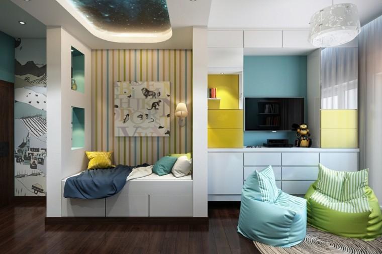 habitaciones infantiles niña sillones comodos ideas