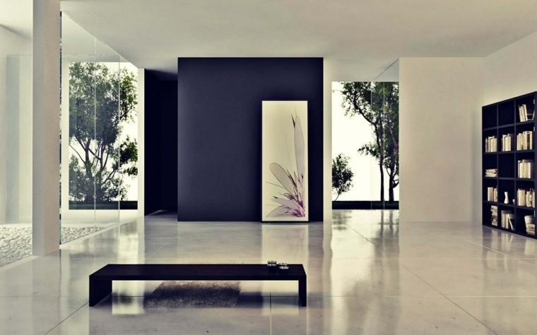 decorar interiores estilo minimalista mesa