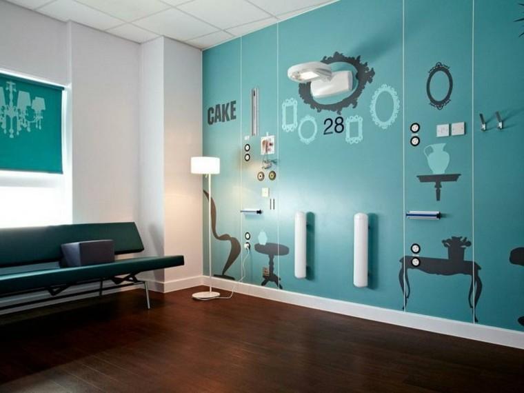 decorar paredes interiores efecto relieves