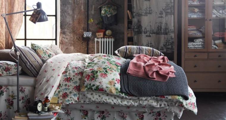 decoración estilo vintage ropa cama