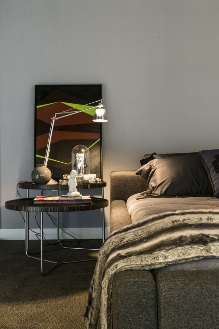 detalle paredes decorado lampara cuadro