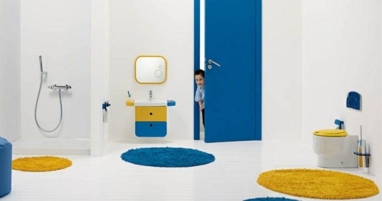 diseño cuarto baño moderno infantil