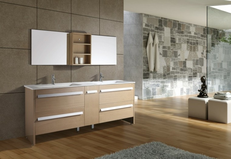 diseño cuarto baño tonos neutros