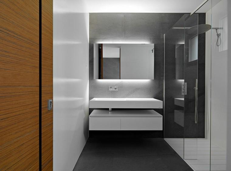 Baños Modernos Con Plato De Ducha:Diseño de cabina de ducha con azulejos
