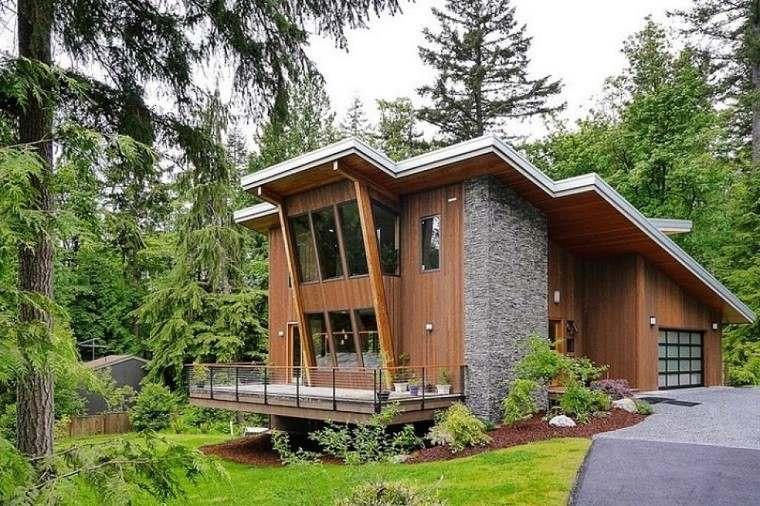 Casa de campo el estilo contempor neo m s natural for Fachadas contemporaneas para casas