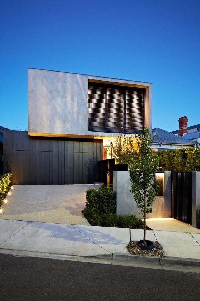 diseño casa pendiente moderna campo