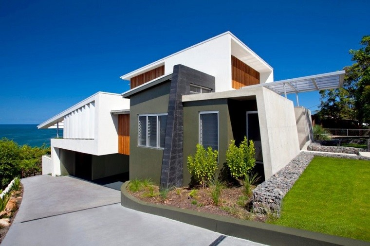 diseño casa moderna vistas mar