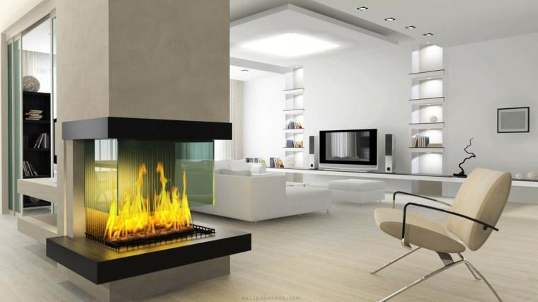 diseño chimeneas modernas seccion salon