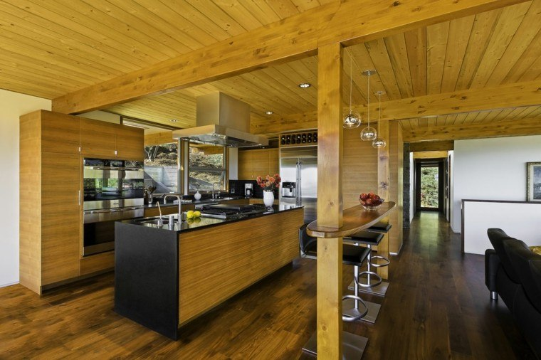 diseño cocina todo madera natural