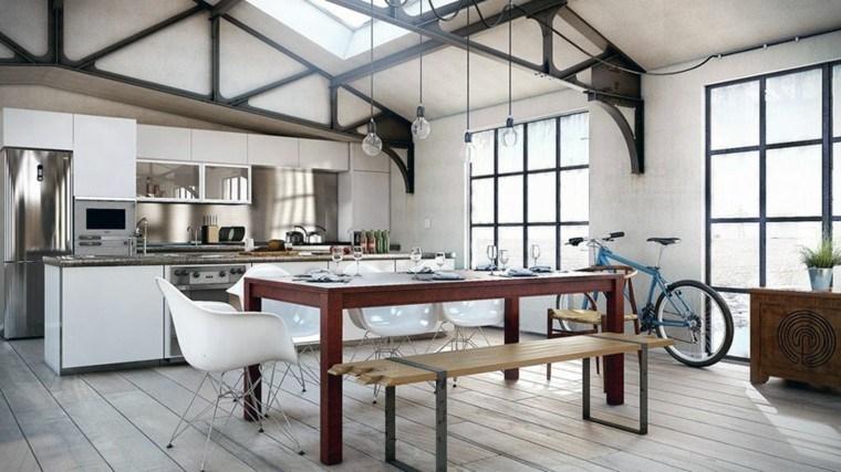diseño cocina nordica estilo urbana
