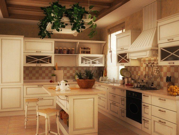 diseño cocina estilo tradicional beige