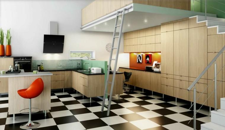 diseños de cocina modulo madera