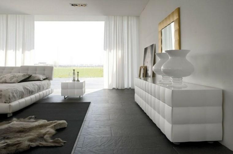 diseño comoda cuarto lujosa blanca