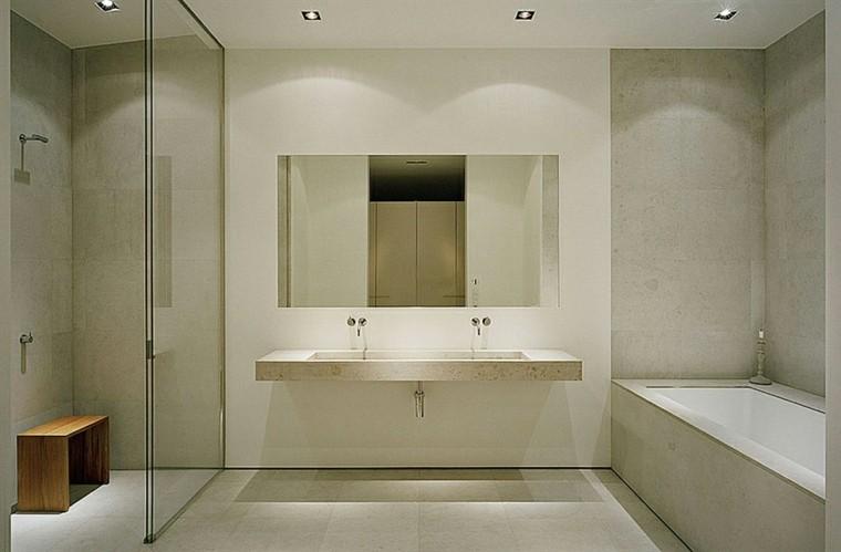 Baños Modernos Con Plato De Ducha:diseño de cuarto de baño moderno con ducha