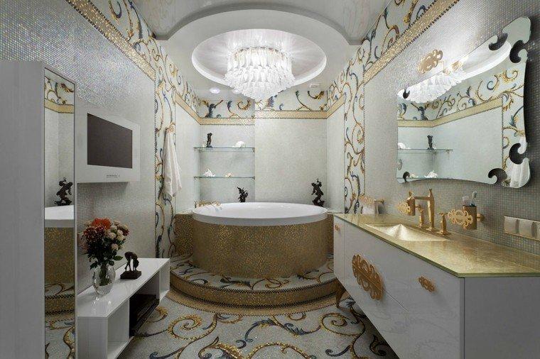 diseño decoracion espejo atractivo dorado
