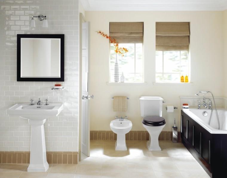 diseño decoracion espejo blanco marco
