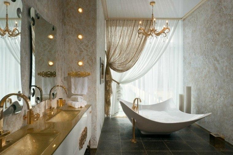 diseño decoracion espejo dorado lujo