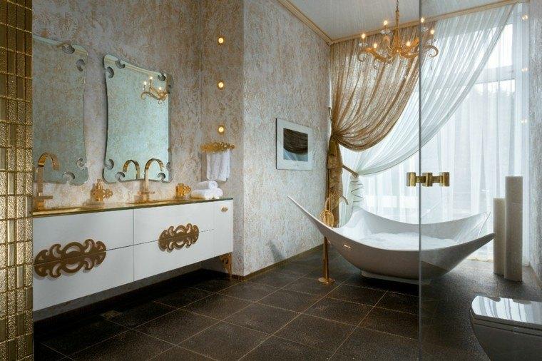 diseño decoracion espejo lujo dorado