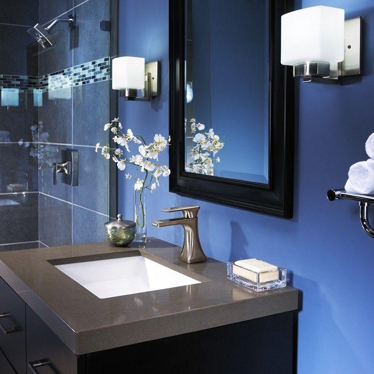 diseño decoracion fresco azul flores