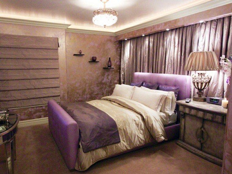diseño habitacion juvenil chica morada